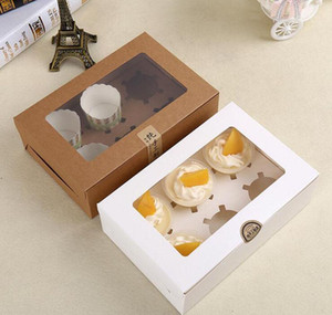 Kraft Card Paper Cupcake Box 6 Cup Cake Holders Muffin Cake Boxes Dessert Portable Package Box S bbypoF bdesports