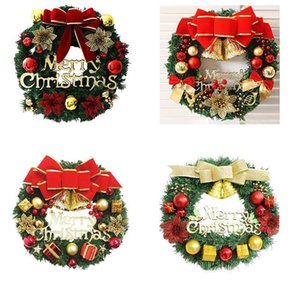 Creative Wreath Christmas Tree Decoration Colorful Family Holiday Party Wall Decoration Props Holiday Atmosphere Wreath Decor AHA1737