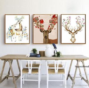 DIY Peinture à l'huile Animal Picture Picture Art Peintures Peinture À L'Huile Deer Peinture À L'Huile de peinture Sofa Décoration murale Non Cadre 16 * 20 pouces BC BH1495