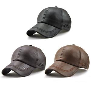 New High Quality Winter Cap PU Leather Baseball Cap Men Snapback Hat Casquette Gorras Para Hombre Mens Trucker