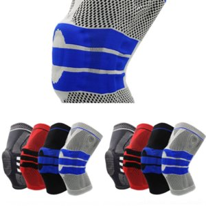 XlB AOLIKES Knee knee pad Support Coolfit dry sport Quick Silica gel Spring Stabilizer Sports Knee Brace Patella KneePad Pads Hole