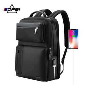 Bopai Two In una spalla Back Pack Maschio Business Casual Viaggi Bagpack staccabile 15.6 Inch Laptop Backpack bbyEBX garden2010
