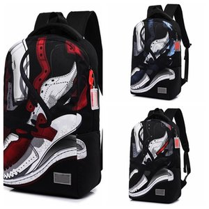 Fashion Graffiti Backpack Outdoor Sports Waterproof Hiking Bag Travel Zipper Adjustable Belt Camping Knapsack Child School Bag Free Shipping