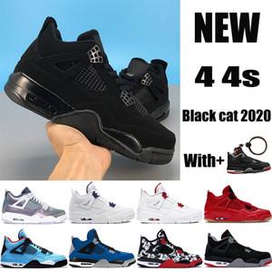 Yeni 4 4s Jumpman basketbol ayakkabıları metalik mor Kara kedi yetiştirilen kaktüs jakı yangın single neler mens Sneakers kadın eğitmenler kırmızı