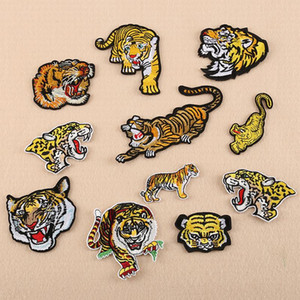 Tiger Animal Embroidered Clothes Patches,Sew On Iron On Letters Patch,Clothing Applique Decor