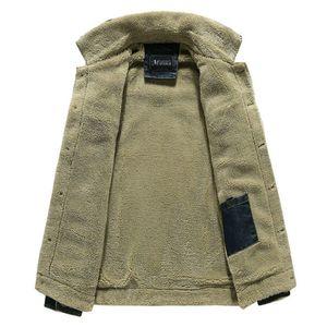 Marka Volgins Askeri Kot Kış Denim Ceketler Erkek Erkekler Ordu Sıcak Ceket Palto Bombacı Sonbahar Kalın Lhhci