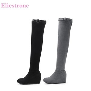 Brand New Sexy Black Gray Women Riding Thigh High Motorcycle Boots High Heels Lady Dress Shoes AB235 Plus Big Size 10 32 43
