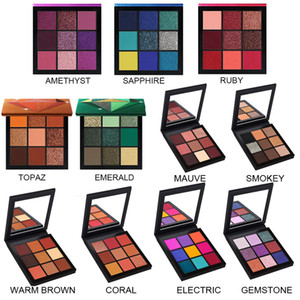 Top qualité Dropshipping Version correcte 9 Couleurs Pauche Palette Topaz Ruby Amethyste Sapphire Emeral