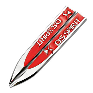 For DS Accessories Car Fender Side Badge Sticker Emblem Decals For Citroen Elysee Xsara C2 C3 C4 C5 c4L DS3 Jumper Berlingo DS7