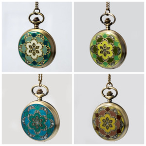 Gel-drop diamond pocket watch quartz 47MM vintage jewelry necklace Korean version sweater chain fashion watch hanging watch