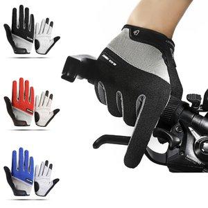 Luxury-Outdoor men women touch screen full finger bike gloves antiskid and shock-absorbing cycling climbing glove
