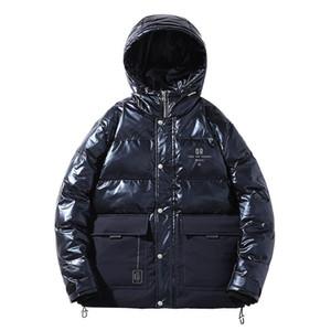 Aşağı Parkas Coats Kapşonlu Katı Puffer Ceketler Adam Kalın Sıcak Hip Hop Streetwear İçin Erkekler Giyim Duck KKSKY Kış Erkek Beyaz