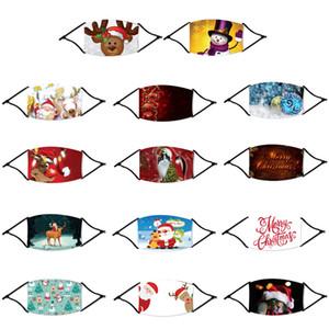 Fshion Natal máscara facial Papai Noel Snowflake Elk desenhador 18 estilos respirável Dustproof PM2.5 máscara ajustável