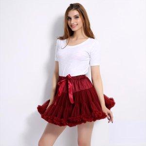 2020 Fluffy Tutu Skirt Teenage Girls Tutu Ballet Pettiskirt Women Adult Princess Tulle Party Dance Fashion Mesh Skirts Female