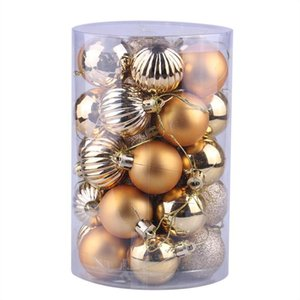 34PC 40mm Christmas Xmas Tree Ball Bauble Hanging Home Party Ornament Decor Christmas Supplies Decorations for Home(Gold)