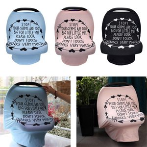 Nursing Cover Breastfeeding Scarf with Safety Warning No Touching Sign Baby Car Seat Covers Soft Breathable Stretchy Shopping