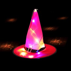 Halloween Costume LED Witch hat for Halloween party decoration Halloween Glowing Hat