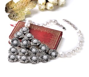 Summer Wedding Match Pearl Jewelry Factory Direct Sales Female Romantic Bead Chain Bib Statement Necklace For Women Gifts