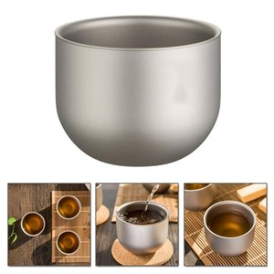 150ml pure titanium tea cup double layer thermal insulation layer outdoor titanium coffee cup room 35dc26