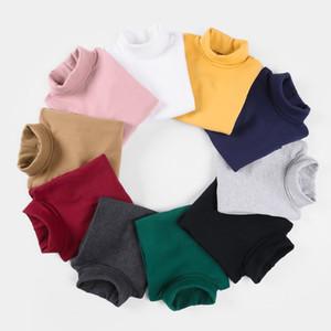 New 2020 Autumn Winter Boys Girls Kids Fashion Solid T Shirt Tops Children O-neck Long Sleeve Warm Casual T-shirts Sweatshirt