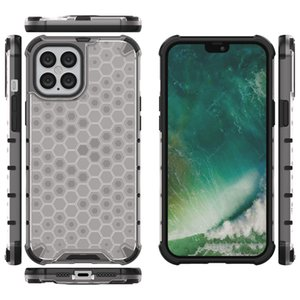2 in 1 Hybrid TPU+PC Armor Case for Iphone Pro Max Rugged Pattern Clear Shockproof Bumper Phone Airbag Back Cover