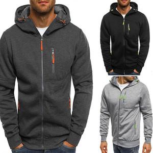 Spring Men's Jackets Hooded Coats Casual Zipper Sweatshirts Male Tracksuit Fashion Jacket Outerwear