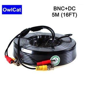 5 M-50 M Video + Güç Uzatma Kablosu BNC + DC CCTV Kablosu DVR Kamera Kaydedici Sistemi Için Ev veya Ofis CCTV Güvenlik Kameralar DVR Kit1