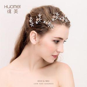 D2109 NPASON Mariée Bijoux Cheveux Cross Bordure Bandeau de cheveux Toast Vêtements Accessoires Inlay Pearl Simplicity Headwear1