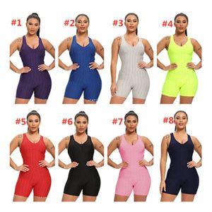 Kadınlar Kolsuz Bodysuit Tulum Şort tulum Tek Parça Pantolon Seksi Backless tulumları Spor Salonu Yoga Spor Plaj Giyim F92804