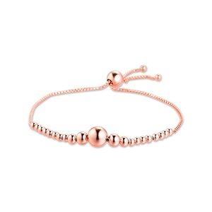 925 Silver Charm Pulseras Cadena de granos deslizante pulsera para la Mujer de DIY que hace Fine berloques joyería pulsera LJ201020