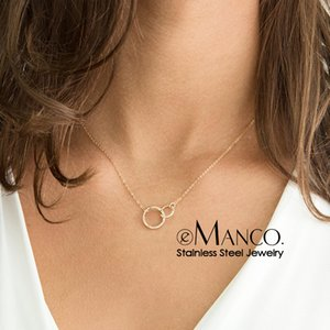 Emanco Stainless Steel Pendant Chokers for Women Fashion Jewlery Best Friend Necklace Kolye