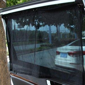 2 Adet Oto Araba Perdesi Güneş Gölge Koruma Penceresi Evrensel Araba Sunshade Sunscreen Blok Perdesi