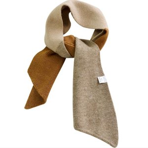 Women Kniitted Winter Scarf Long Skinny Small Scarves Female Neckerchief Collar Shoulder Neck Wraps For Ladies