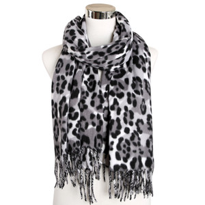 FOXMOTHER Winter Leopard Scarf Women Cashmere Shawl Animal Print Long Scarf Wrap Scarves Accesorios Mujer Muffler Female 201224