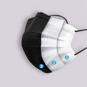 protection de la production de gros masque facial jetable imprimé 3 plis masque noir coloré nouvelle année