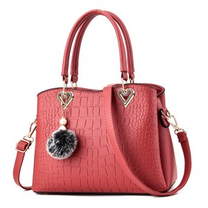Soft PU Leather Bag Fashion Messenger Bag Female Large Capacity Handbag Totes Bag for Women Shoulder Bags 2020 Deep Pink Color
