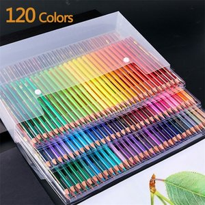 48 120 PCS Oily drawing pencils Coloured set of pencils for school Professional sketch watercolor pencil Art supplies 201223