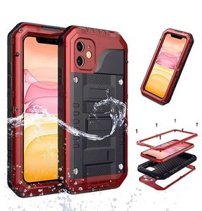 Waterproof Shockproof Protective Heavy Duty Protection Doom armor Metal Aluminum phone Case for iPhone 5 6 7 8 plus xr xs max 11 promax