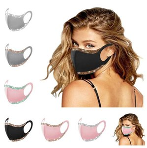 Fashion Bling Glitter Face Mask Solid Color Protective Masks Washable Reusable Adults Women Mouth Cycling Dustproof Party Mask Cover F1 Bxsk