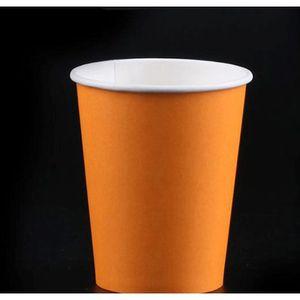 10pcs Pure Color Party Poignée Jetable Tasse Juice Coupe Coupe DIY Décoration Baby Douche Enfants Enfants Anniversaire Pique-nique Vaisselle de la vaisselle