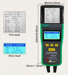DY2015C 12V 24V Car Battery Tester Digital Lead-acid Analyzer Automotive Tool CCA 100-1700 SOH Integrated Printer Portable