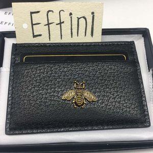 Top Qualität Luxurys Designer Kreditkartenhalter Effini Neue Biene Tiger Echtes Leder Fird Business ID Mini Karten Münzbörse Tasche Tasche