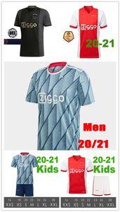20 21 Ajax Amsterdam Home Away Soccer Jersey 2020 2021 PROMES áAREZ TADIC NERES VAN BEEK TADIC ZIYECH Football Jerseys Uniforms MEN KIDS