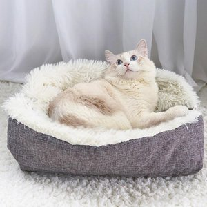 Warm Cat Bed House Pet Puppy Cat Sofa Beds Soft Nest Kennel Winter Dog Cat Cushion Mat Indoor Cats Products P bbyvWh