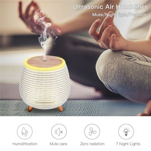 Ultrasonic Air Humidifier USB Aromatherapy Diffuser Bedroom Air Purifier Moisture Mini Essential Oil Diffuser with Night Lights 1012