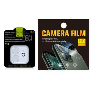 Para iPhone 12 Lente de câmera de vidro para iPhone 11 Pro Max Voltar câmera de vidro lente film cell telefone celular protetor de lente com pacote