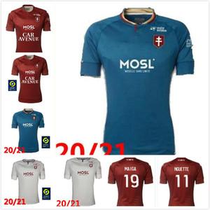 20 21 FC Metz Soccer Jerseys 2021 برون Fofana Niane Boulaya Centonze Diallo Vagner مايوه دي القدم قميص كرة القدم