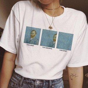 van gogh new t shirt women female t shirt top funny tee shirts harajuku ulzzang korean style aesthetic art Casual femme clothes