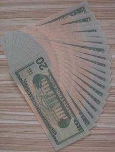 2020 Последняя версия Поддельный старые $ 20 законопроектов Игрушка бар партия поддельных денег гарантия качества 1: 1 моделирование A15