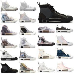 2021 B23 B22 B24 B24 Designer Sneakers Obliqui Tecnici Pelle Tecnica Alta Platform Flowers Platform Outdoor Scarpe Casual Vintage taglia 36-45 # NM2